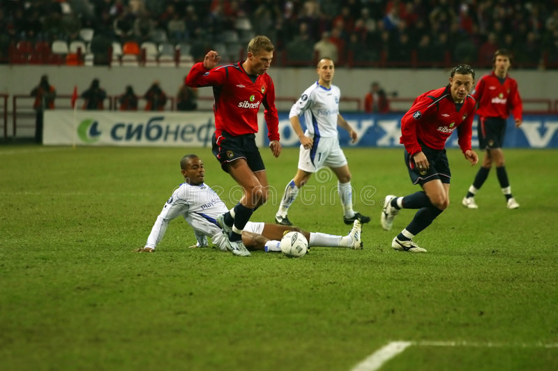 Football match stock photography