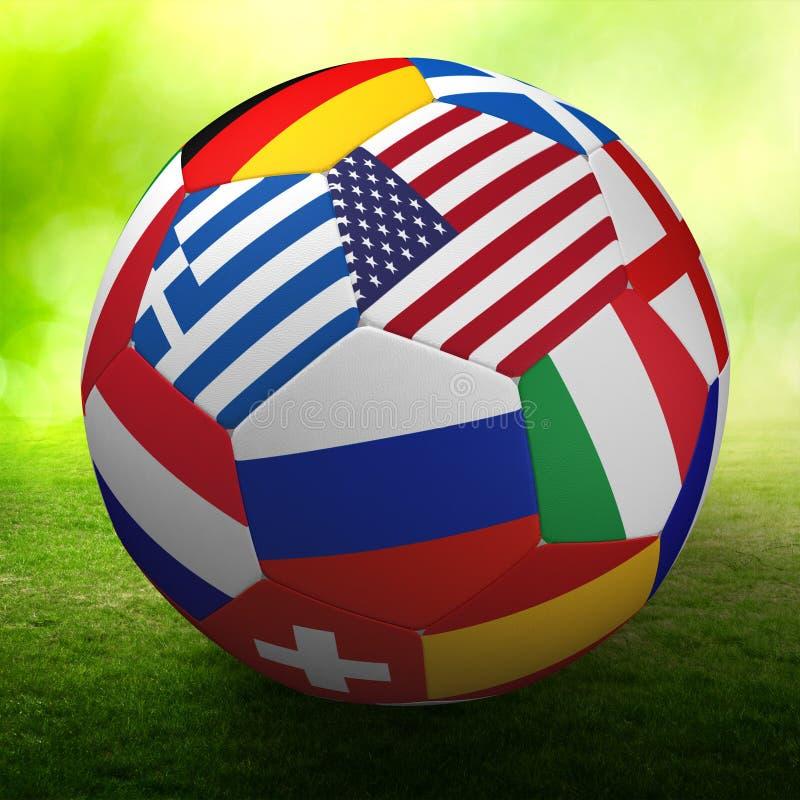 Football nations flags ball stock illustration