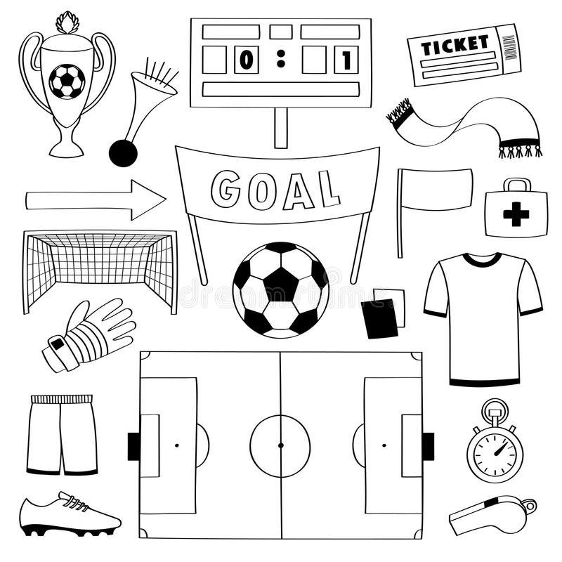 Soccer coloring page | 800x800