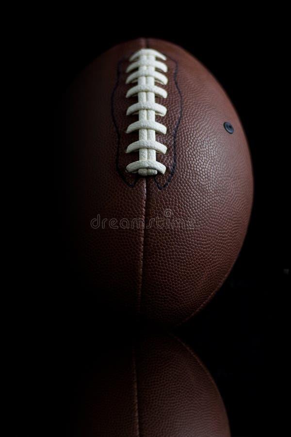 Free Football On Black Stock Image - 5647941