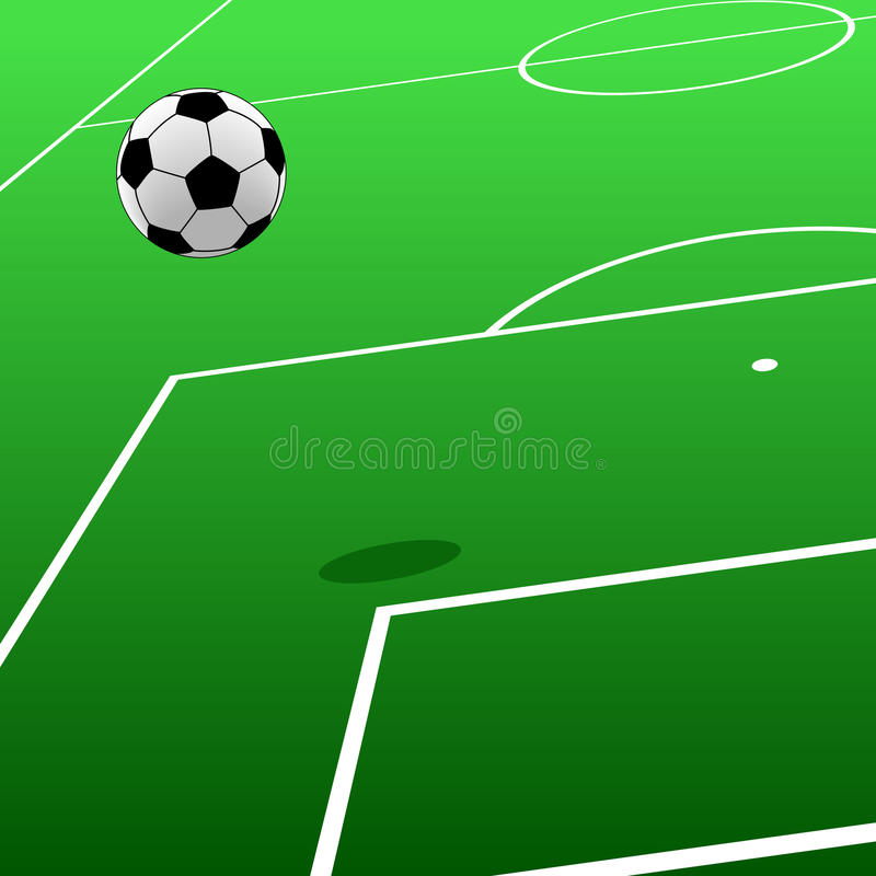 Download Football pitch stock vector. Image of sport, ground, area - 13405025