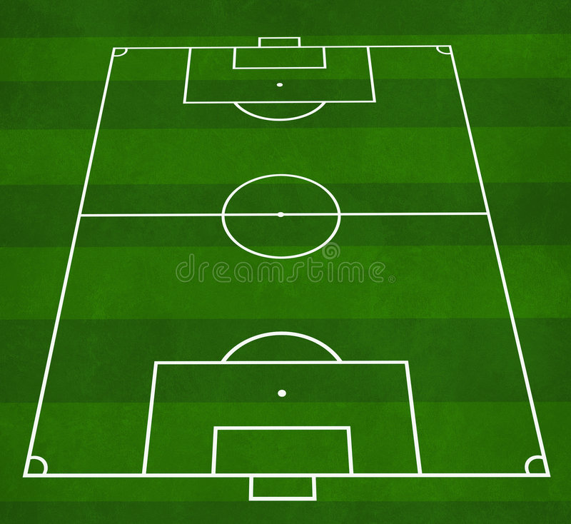 Football pitch stock illustration illustration of corners for Soccer starting lineup template