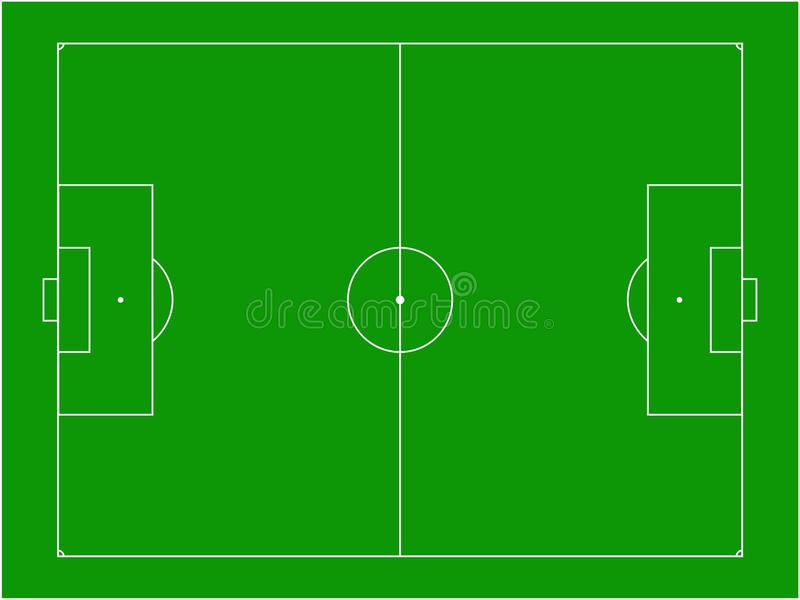 Download Football pitch stock vector. Image of lines, game, soccer - 18403216
