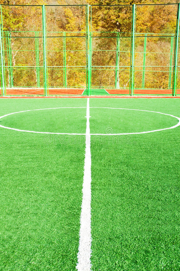 Download Football Pitch On Bright Day Stock Image - Image: 12169773