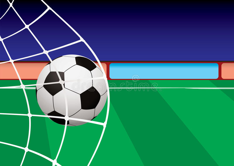 Download Football Pitch Goal Net Royalty Free Stock Photography - Image: 14283887