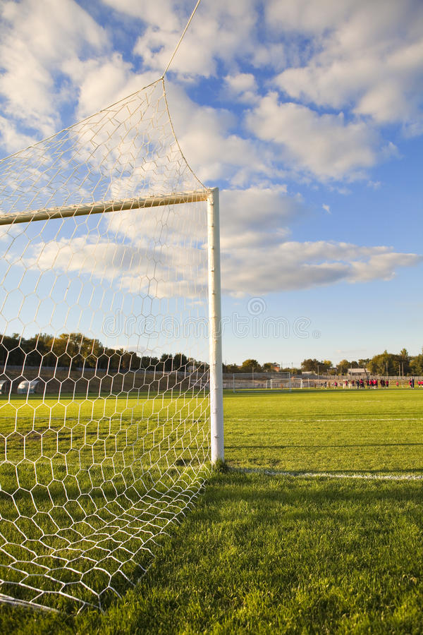 Download Football pitch goal post stock photo. Image of destination - 17099064