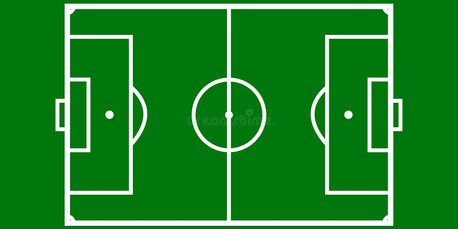 football pitch layout stock vector  illustration of color