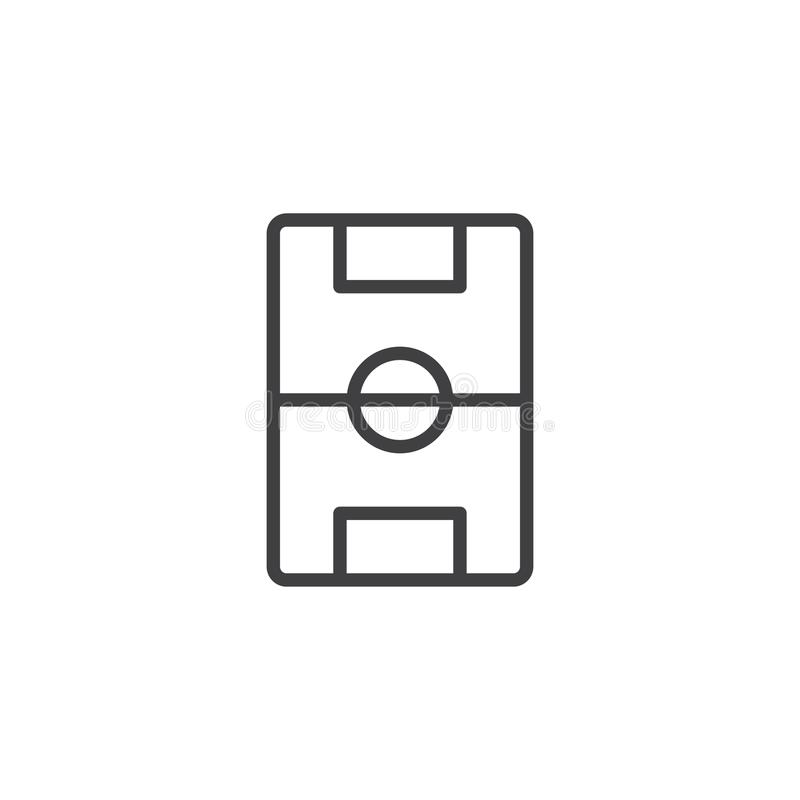 Football pitch line icon vector illustration
