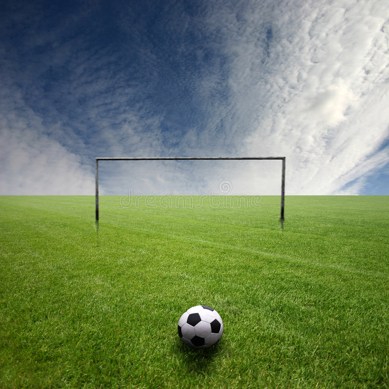 Free Football Pitch With Ball Stock Photo - 4841890