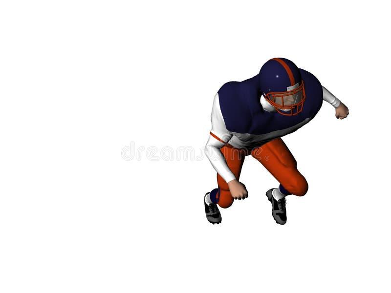 Football Player 10 vector illustration