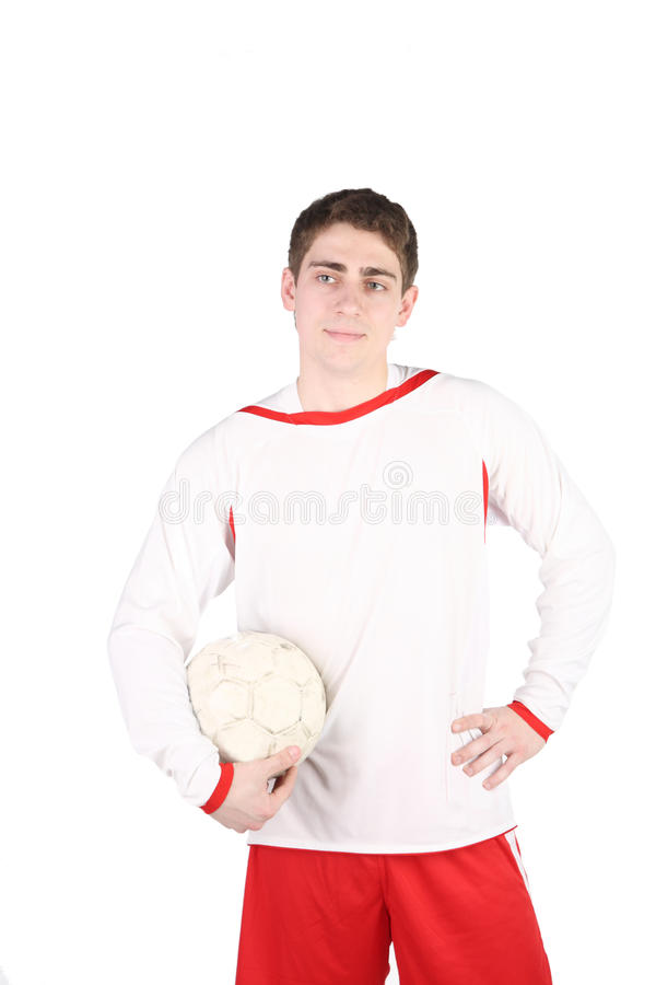 Download Football player stock photo. Image of background, jumping - 14737590