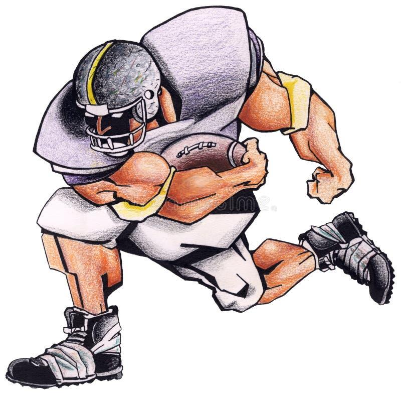 Football player stock illustration