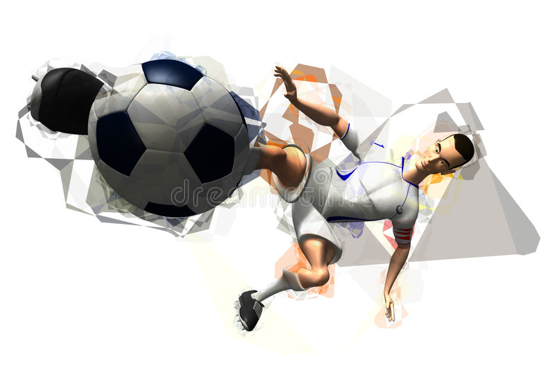 Football player royalty free illustration