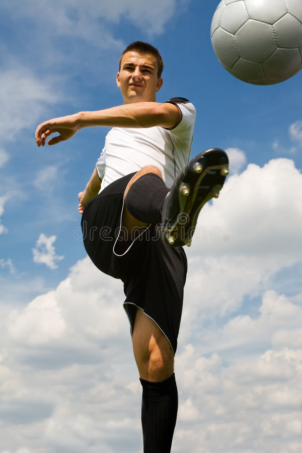 Football player 4 stock images