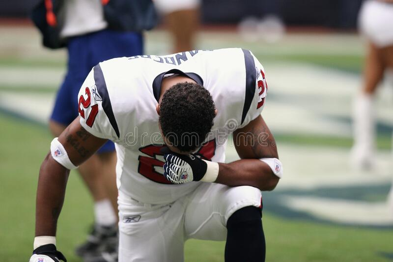 Football Player On Bended Knees Free Public Domain Cc0 Image