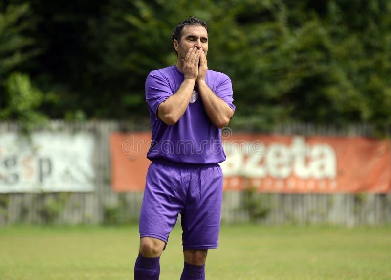 Football player reaction stock photos