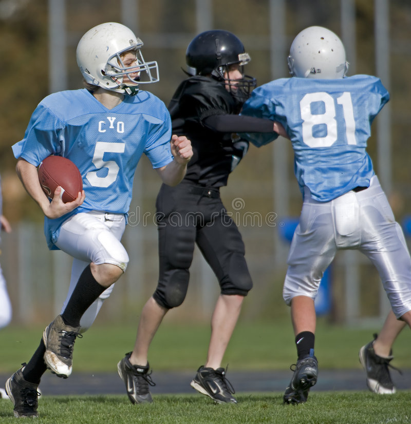 Football Player running royalty free stock photo