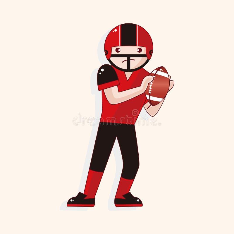 Football player theme elements vector,eps royalty free illustration