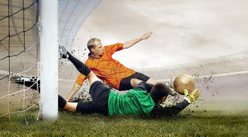 Download Football players stock image. Image of competitive, smoke - 12967405