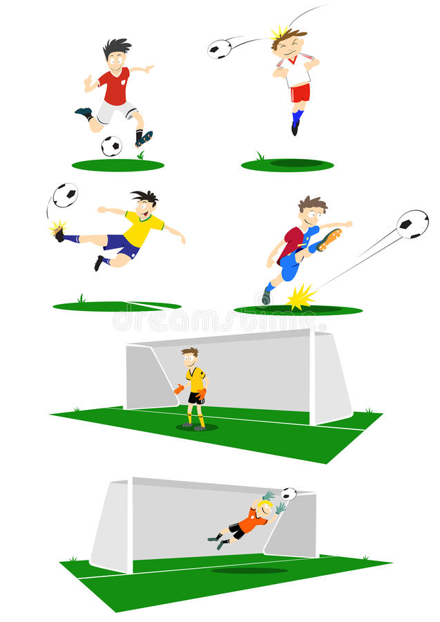 Download Football Players stock vector. Image of real, world, kick - 17623816