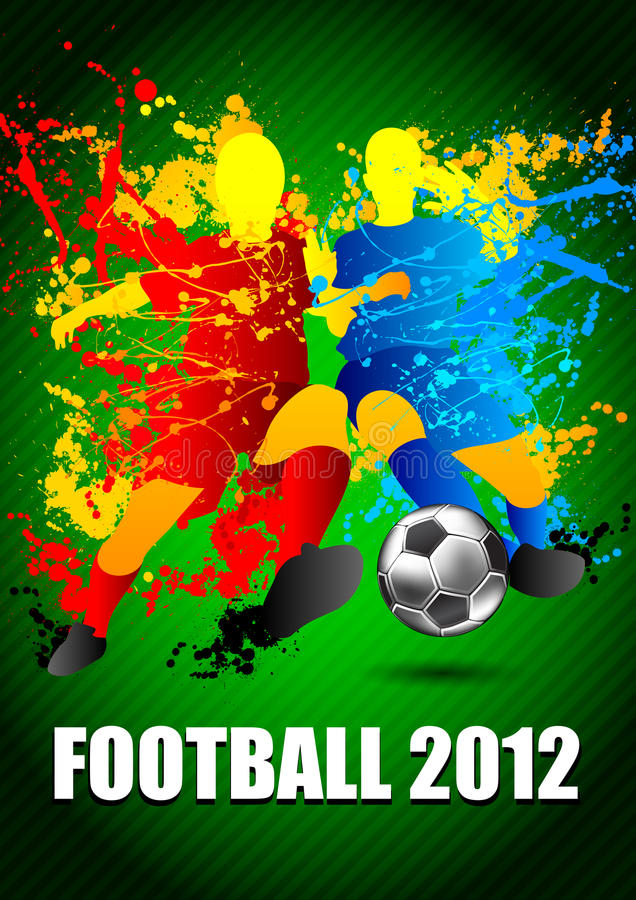 Download Football Players With A Soccer Ball. Vector Illust Royalty Free Stock Images - Image: 24323769
