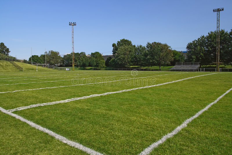 Football playing field royalty free stock image
