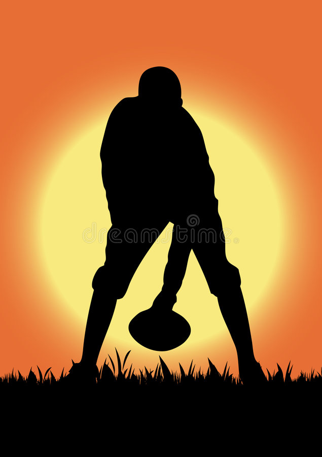 Football playing in the field royalty free stock photo