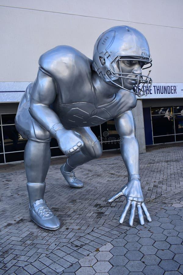Football Playoff sculpture. Tampa, Florida - USA - January 07, 2017: Football Playoff sculpture in Tampa royalty free stock image