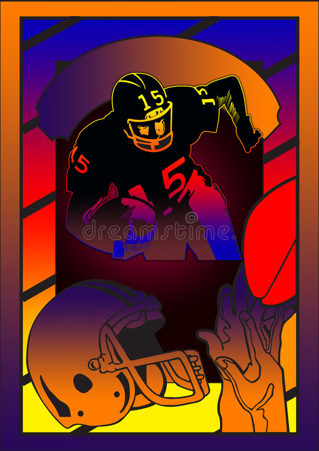 football poster royalty free illustration