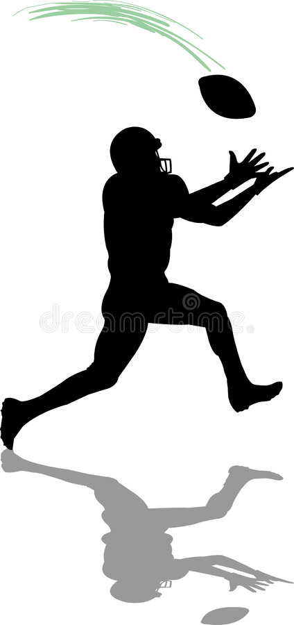 Download Football Receiver stock illustration. Image of active, male - 972588