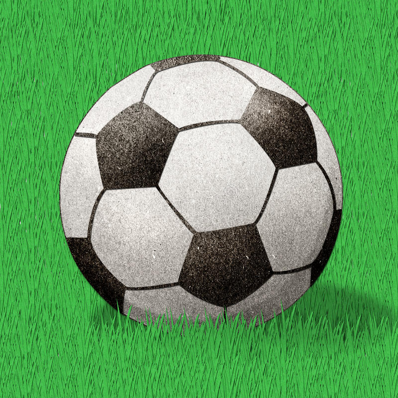 Download Football  Recycled Paper Craft Stick Stock Illustration - Image: 22346590