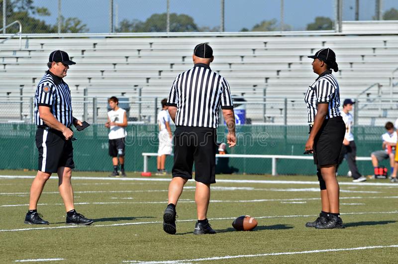 Football Referees royalty free stock photography