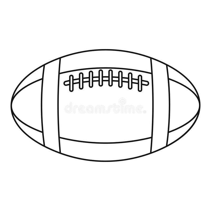 football cutout template - football or rugby ball icon outline style stock vector