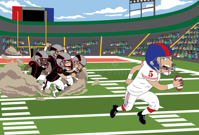 Football Run vector illustration