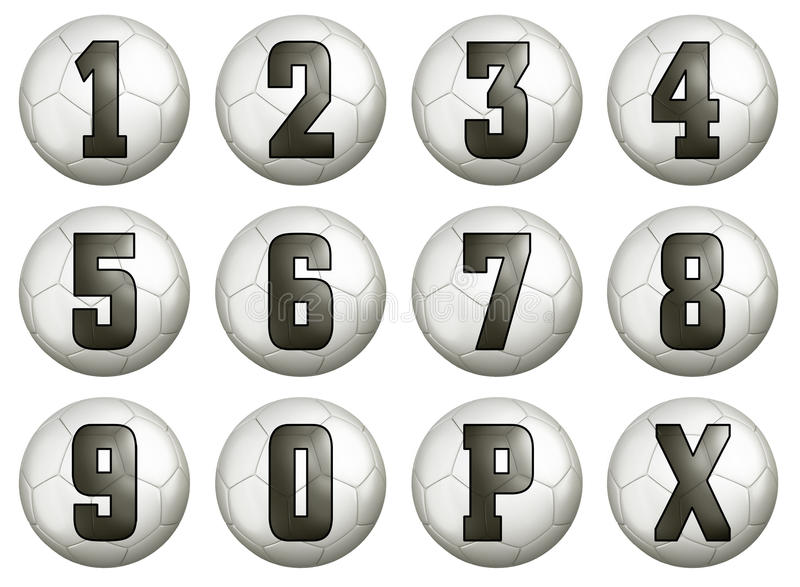 Football Score Numbers Royalty Free Stock Image