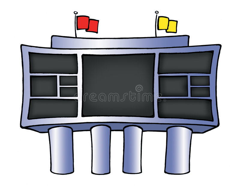 football scoreboard stock illustration illustration of team 5927983 rh dreamstime com scoreboard clip art free scores clipart