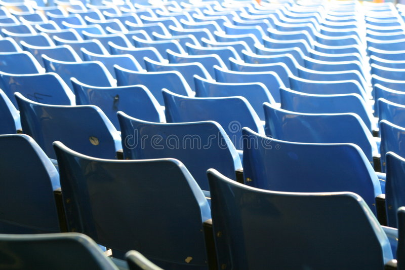 Football seats 2 royalty free stock photo