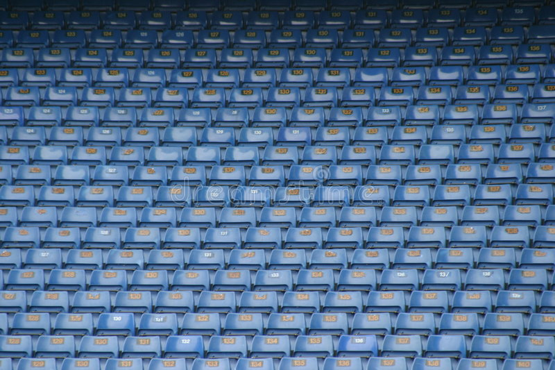 Download Football seats 4 stock image. Image of stand, block, blue - 105703