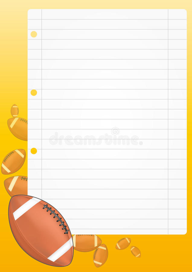 Download Football sheet stock vector. Image of round, equipment - 26169200