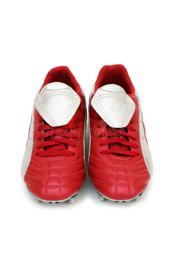 Football shoes isolated stock images