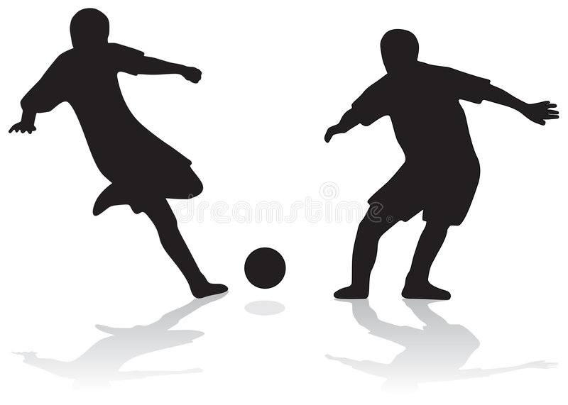Football silhouettes vector illustration