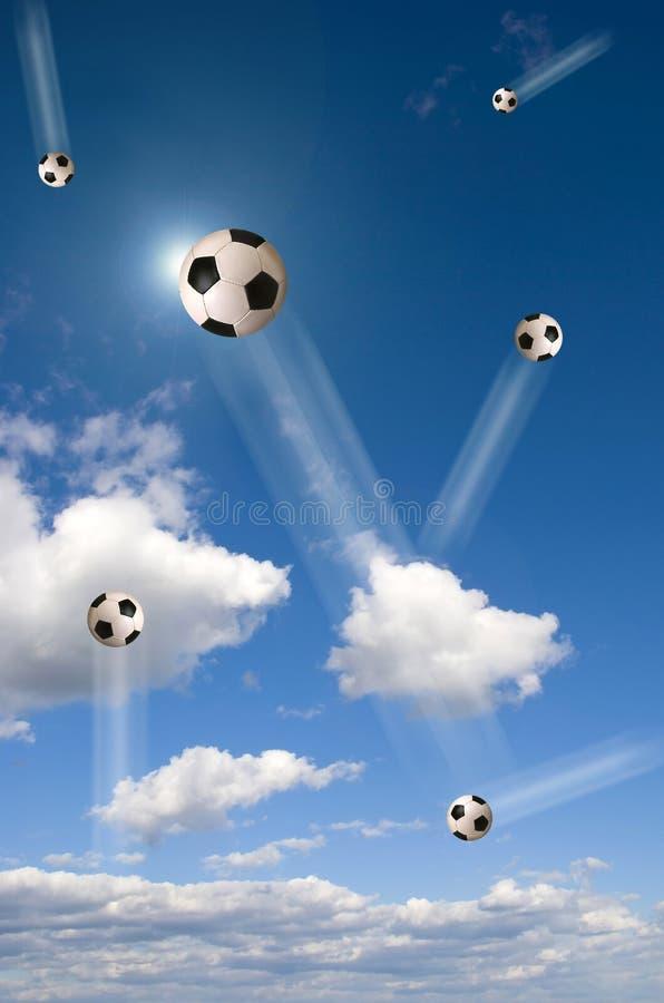 Football In The Sky Stock Photos