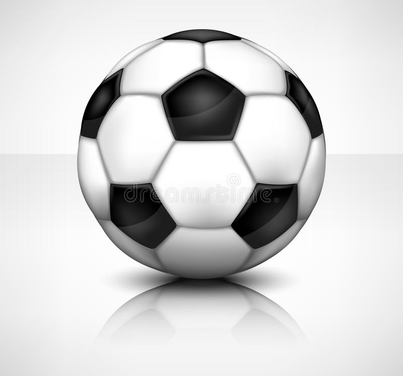 Download Football (soccer) ball stock vector. Illustration of black - 27736419