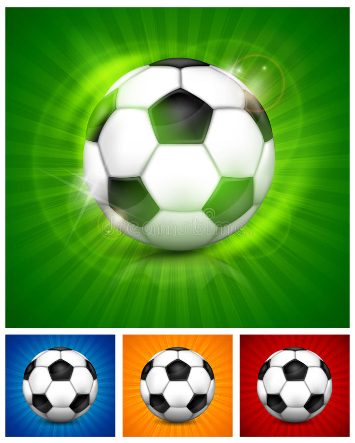 Football (soccer) Ball On Color Royalty Free Stock Images