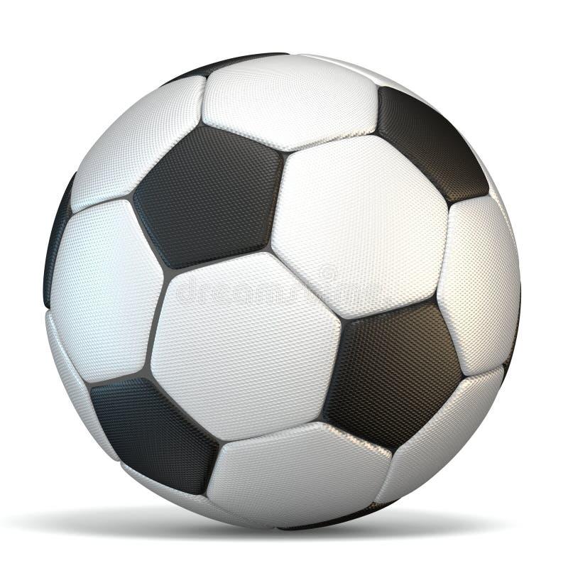 Football, soccer ball 3D stock illustration
