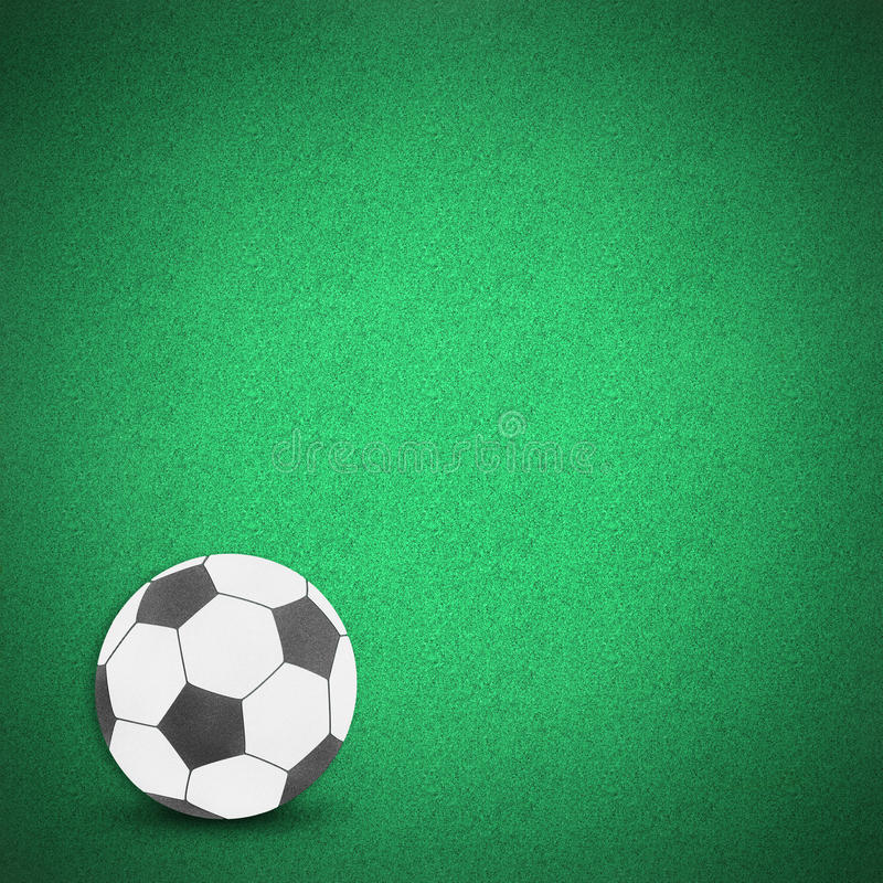 Football Soccer Ball Green Grass Stock Image