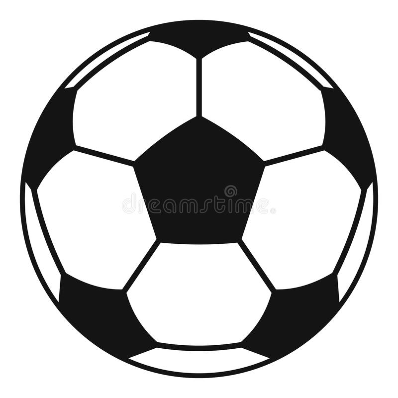 Football or soccer ball icon, simple style royalty free illustration