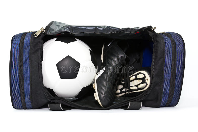 Download Football And Soccer Boots In Sport Bag Stock Photo - Image of training, soccer: 25115792
