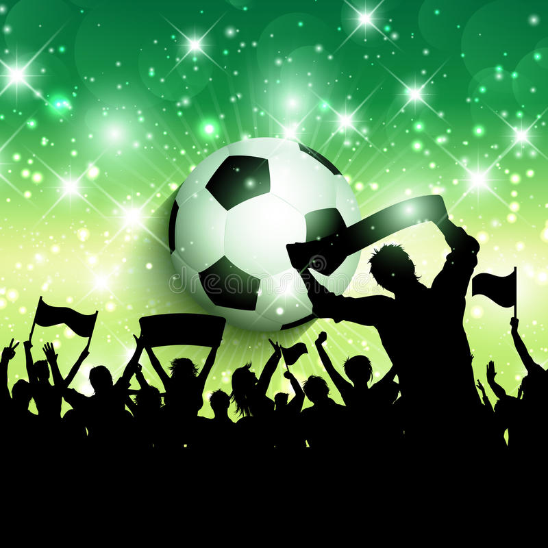Football or soccer crowd background 1305 royalty free illustration