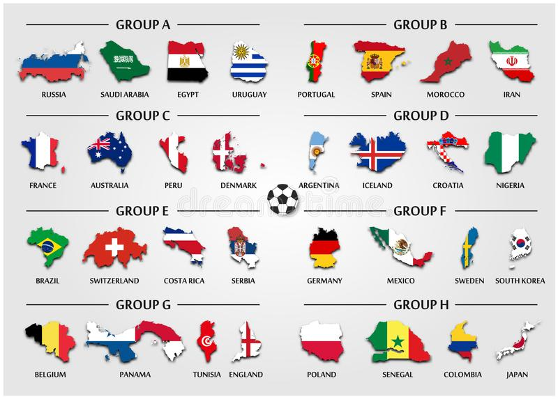Football or soccer cup team group set country map with national download football or soccer cup team group set country map with national flag vector gumiabroncs Choice Image